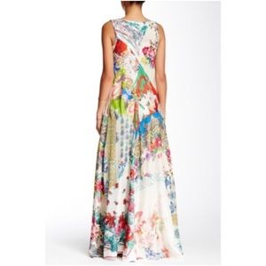 Johnny Was mixed print maxi dress size L boho